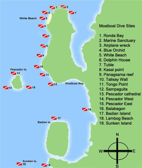 Moalboal Dive Sites 2